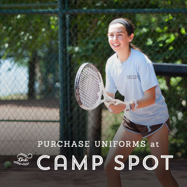Purchase uniforms at the Camp Spot